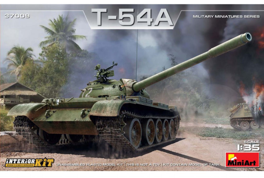 T-54A Soviet Tank with Interior Plastic Kit 1 35 Model MINIART