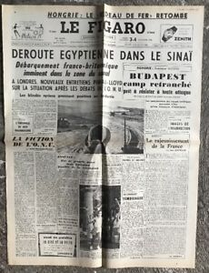 N137-La-Une-Du-Journal-Le-Figaro-3-Et-4-Novembre-1956