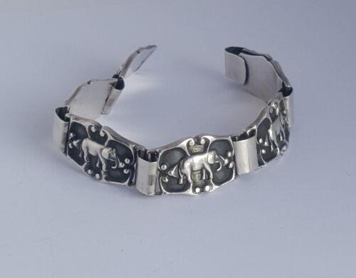 Impressive Danish K. Lykke P. Handmade Silver Ox.