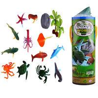 Lot 12pcs Plastic Dinosaur Ocean Animal Tiny Model Action Figures Kids Toy Xmas