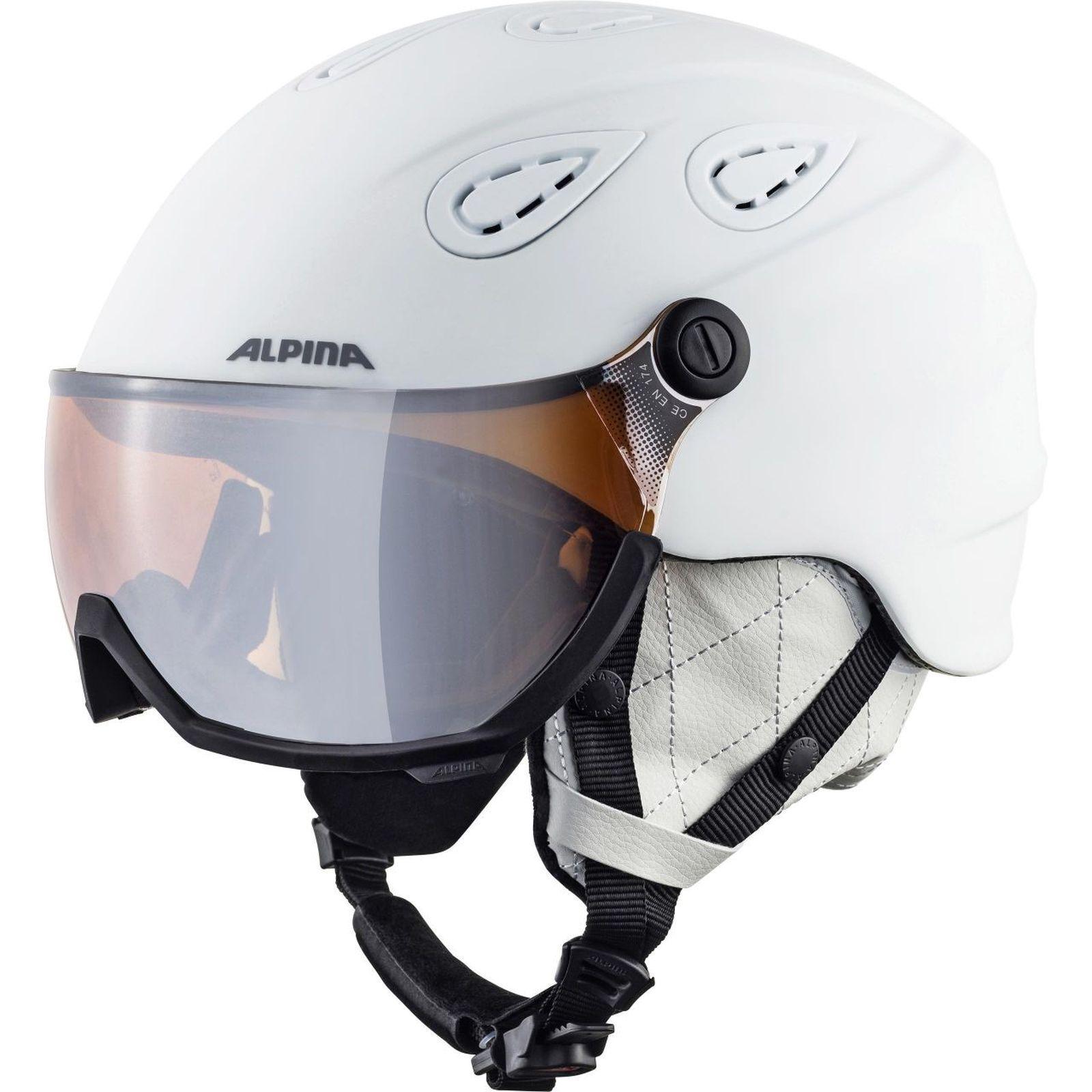 Alpina  Adult Ski Helmet Helmet Grap Visor 2.0 Hybrid Mirror White Matt  for cheap