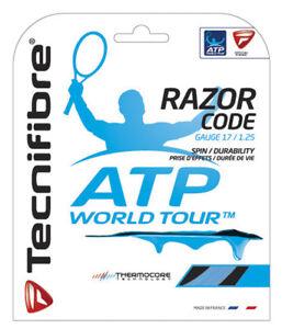 à Condition De Tecnifibre Razor Code 17/1.25 Tennis String Set-bleu-afficher Le Titre D'origine Prix De Vente