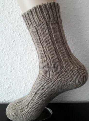 2 Paire Chaud Chaussettes Femmes En 100/% laine virgin wool beige chiné 35 à 42