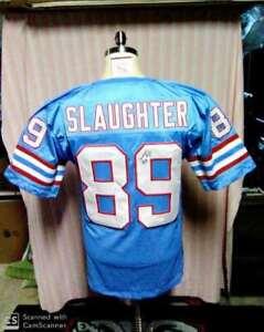 Webster Slaughter Signed T B Houston Oilers Jersey Jsa Ebay