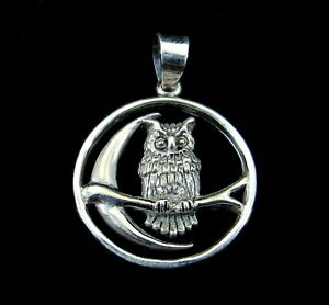 Solid 925 Sterling Silver Perched Bird Chain Slide Pendant