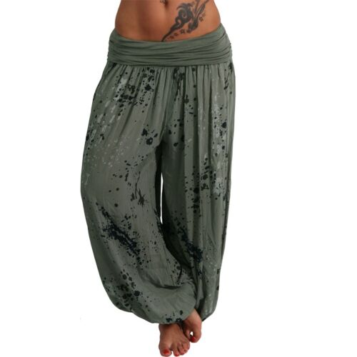 Harem Pantaloni Ali Babà Aladino Donna Pump Spiaggia a Sbuffo Estivi Blob