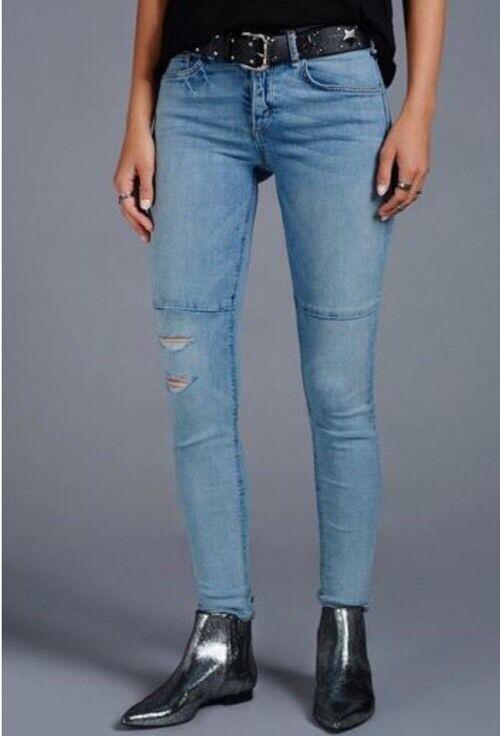 NWT McGuire Demi Seamed Skinny Leg Distressed Jeans