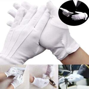 Men-Gentlemen-White-Formal-Gloves-Tuxedo-Guard-Parade-Inspection-Dress-Sant-A5W3
