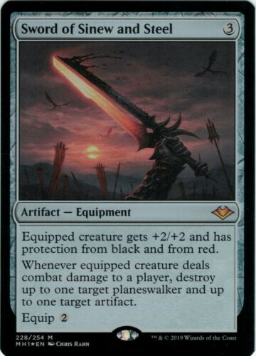 MTG Sword of Sinew and Steel FOIL Modern Horizons Mythic Rare