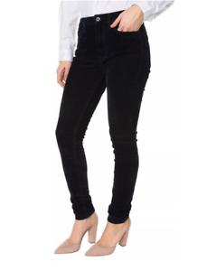 Pepe Jeans Skinny Regent Velvet Samt-Optik Schwarz High Waist Stretch Hose L30