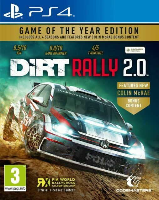DiRT Rally 2.0 Game of the Year Edition PS4 BRAND NEW SEALED