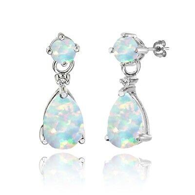 Fashion Bleu Turquoise Gemstone /& Marcasite 925 Sterling silver leverback Boucles d/'oreilles