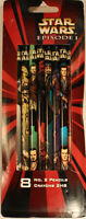 Star Wars-1999- Episode I – (8) No. 2 Pencils –pentech 16200 (old Stock)