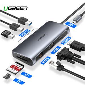 USB C To 4K HDMI VGA Rj45 Ethernet USB 3.1 C Type Charging Adapter Hub