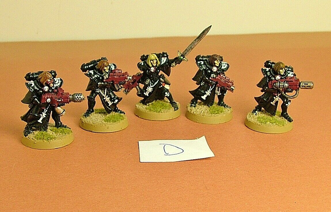 Warhammer 40k Sisters of Battle Squad - 1 Superior + 4 Troops - metal -  Lot D
