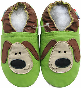shoeszoo-soft-sole-leather-baby-shoes-green-puppy-18-24m-S
