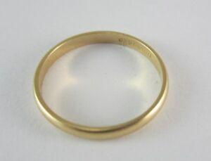 Stunning 14k Yellow Gold Ladies Wedding Band 1 4 G Ebay