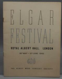 Vintage-Elgar-Festival-Royal-Albert-Concert-Hall-Henry-Wood-Concert-Program