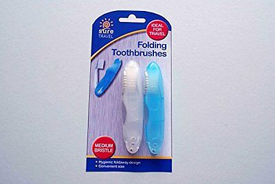 SURE TRAVEL FOLDING TOOTHBRUSH ( Pack of 2)