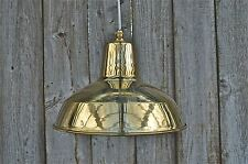 Superb solid brass ceiling light factory lamp shade light pendant barn BFSG3