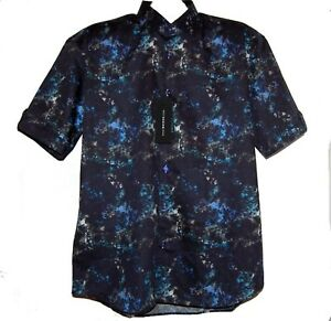 Maceoo-Fresh-PI-Blue-Italian-Fabrics-Cotton-Men-039-s-Shirt-Sz-5-XL-NEW