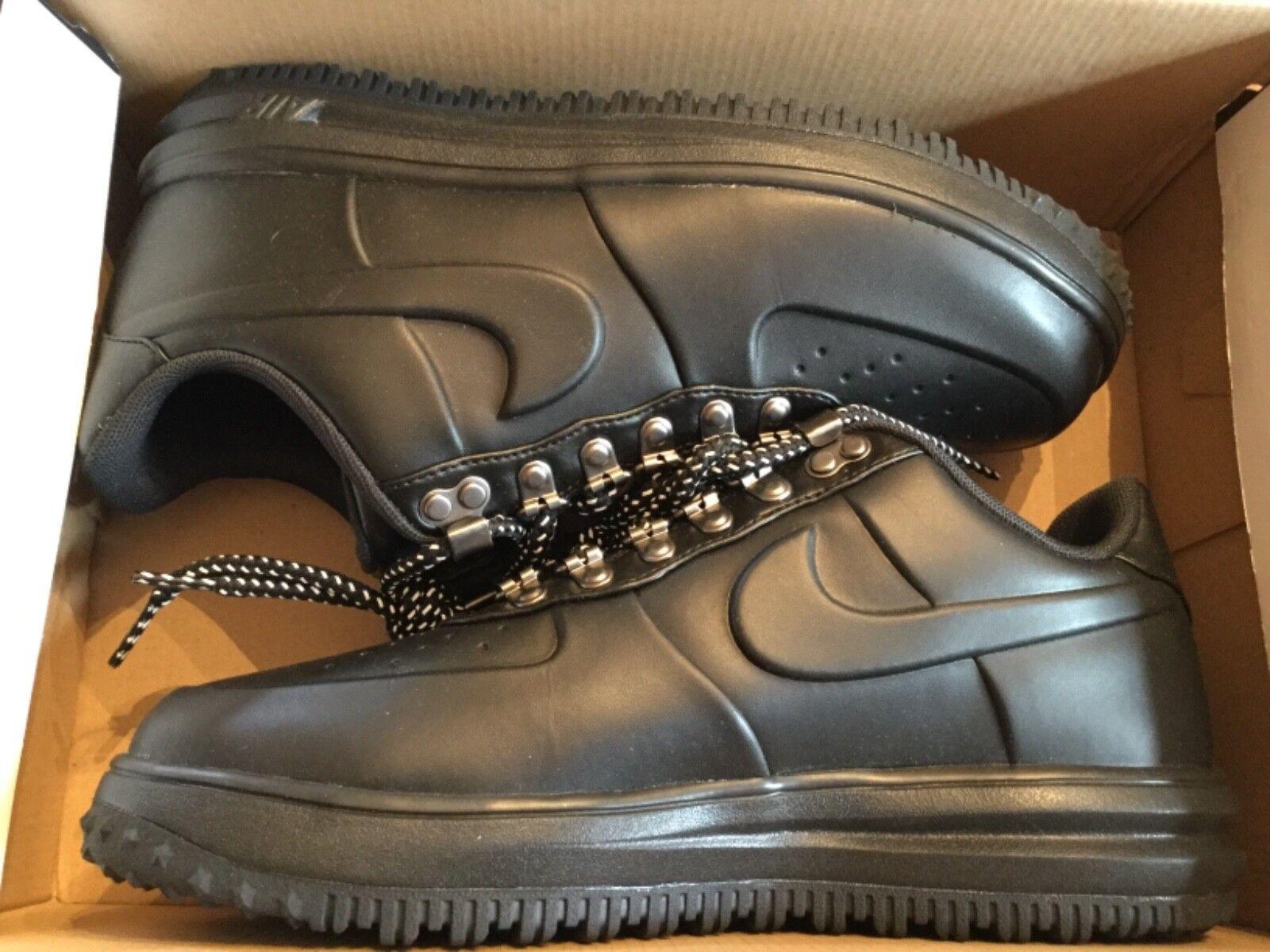 New men's Nike LF1 Duckboot Low Triple Black shoes AA1125-001 sz 8 Force 1