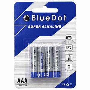 Details about 4-PACK AAA TRIPLE A HEAVY DUTY BATTERIES - BlueDot Alkaline  1 5V ~NEW FREE SHIP