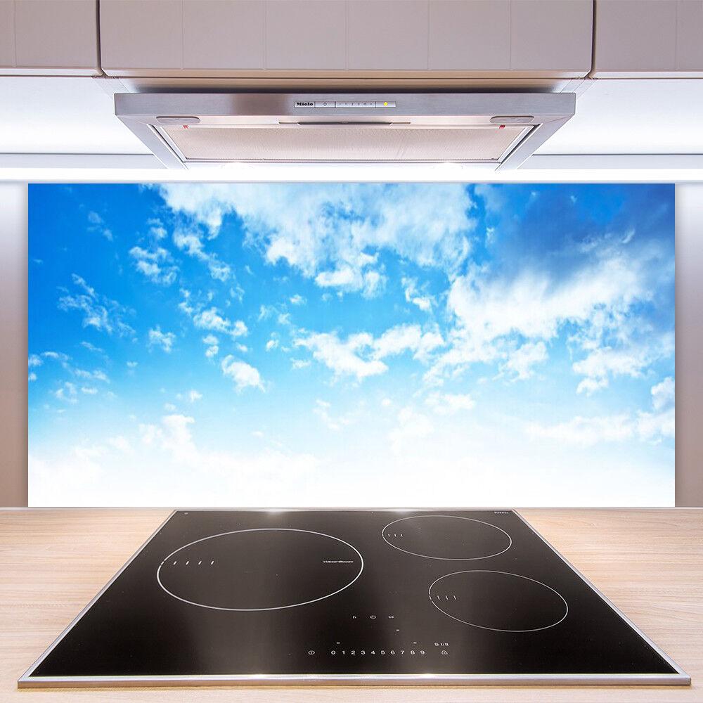Prix Prix Prix double section Crédence de cuisine en verre Panneau Paroi 100x50 Paysage Ciel 4093ac