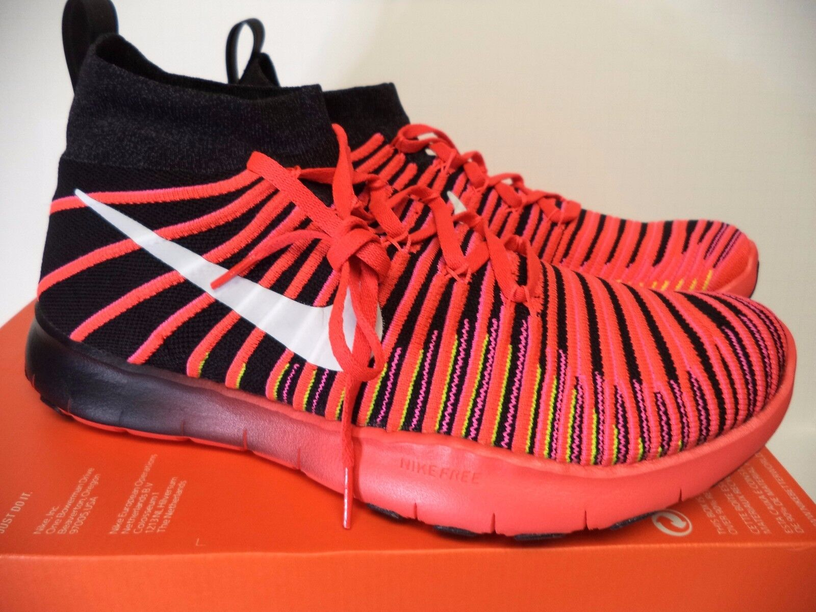 Nike men FREE TRAIN FORCE FLYKNIT athletic 833275 sneakers 11.5 (11) crimson 833275 athletic 001 87cac7