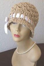 New Handmade Vintage Style Flapper 1920s Cloche Sun Hat