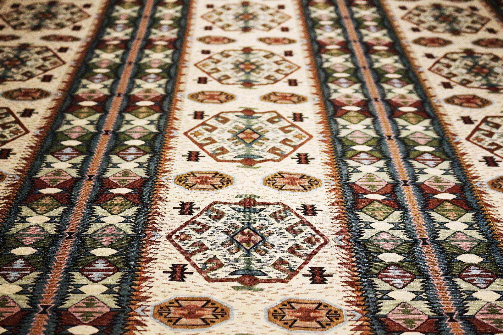 145 X 190 cm Couleuré Table Nappe , Oriental en Damaskunst S 2-1-101519