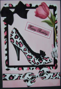 HANDMADE-3-D-BIRTHDAY-GREETING-CARD-WITH-A-SENTIMENT-BEAUTIFUL-LEOPARD-SHOE
