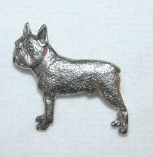 Boston Terrier Dog Fine Pewter Pin Jewelry Art Usa Made