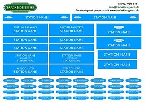 British Railways Western Region Model Railway Station Name Signs O Gauge 7mm
