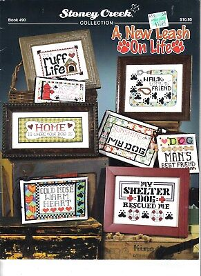 A New Leash on Life ~ Counted Cross Stitch Leaflet ~ NEW ~ Stoney Creek  ~  DOGS