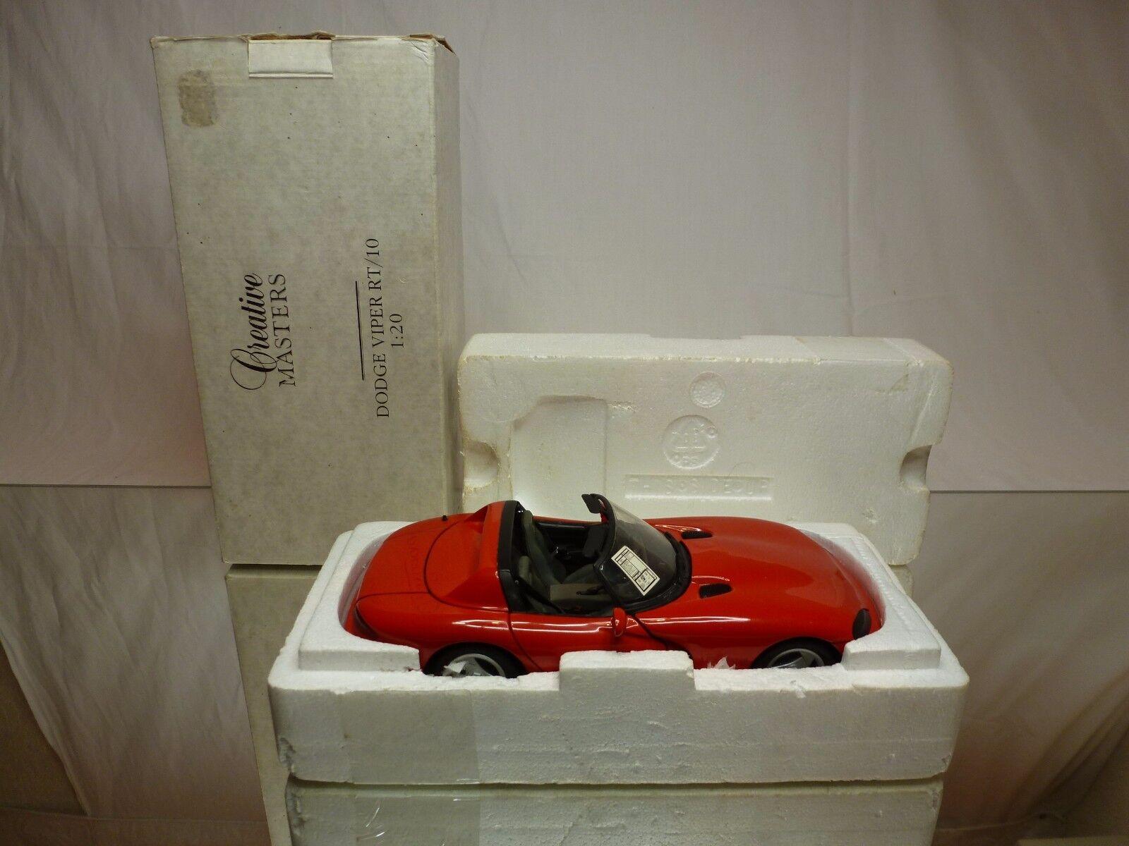 CREATIVE MASTERS 8672 DODGE VIPER RT 10 - rojo 1 20 - GOOD IN BOX