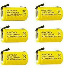 Set di 6 Batterie Ricaricabili Ni - Cd SC 1,2V 2000mAh - T. a Saldare