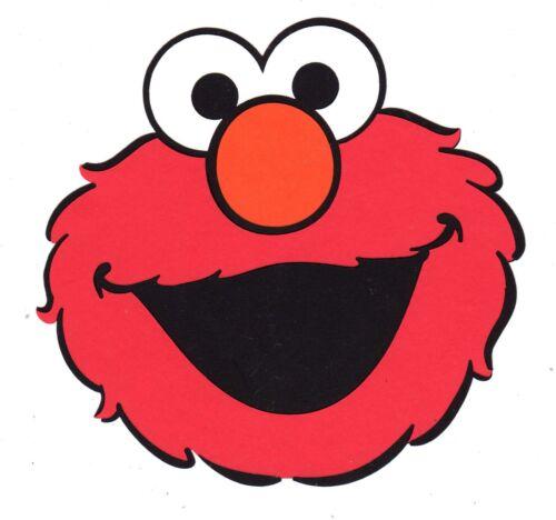 "2 pieces 6/"" x 6/"" Elmo Die Cuts Sesame Street Elmo Party Decorations"