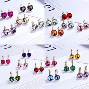Elegant-Women-Crystal-Round-Circle-Drop-Dangle-Earrings-Wedding-Bride-Jewelry