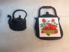 Large Pair Cast Metal Kitchen Trivet Kitchen Tea Pots