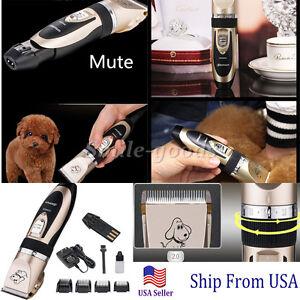 Professional Mute Set Pet Cat Dog Fur Hair Cordless Trimmer