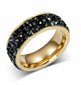 Men-Women-Gold-Plating-Wedding-Ring-Cubic-Zirconia-Crystal-Band-7MM-Size-M-T