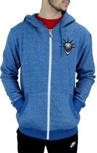 YLD-Men-039-s-Blue-Snowflake-Zip-Up-Hoodie-New-Hip-Hop-Star-Era-Is-Time-Money-G
