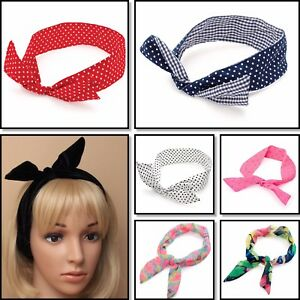 Raisonnable Fil Serre-tête Rétro Wired Head Scarf Rockabilly Fil Cheveux Band Head Wrap Femmes-afficher Le Titre D'origine