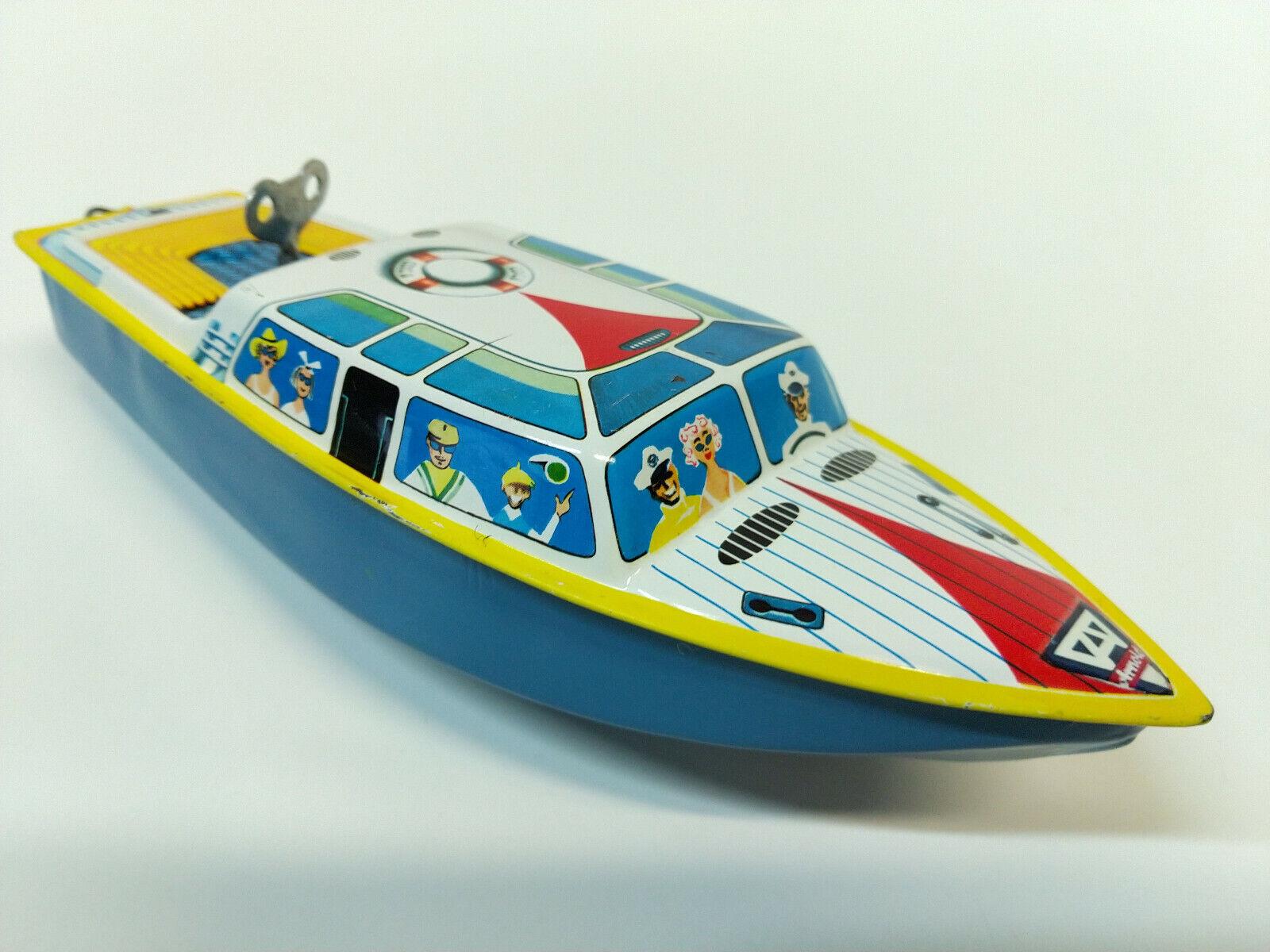 Bateau en tôle tôle   Speedboat  (Wind-up)