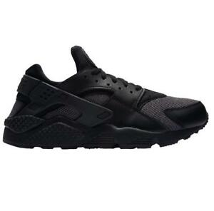 73436feb2e82 Image is loading Mens-NIKE-AIR-HUARACHE-Black-Trainers-318429-041