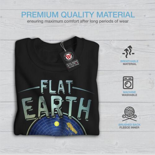 Wellcoda Flat Earth Society Mens Sweatshirt Movement Casual Pullover Jumper