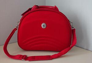 Beauty case da viaggio semirigido rosso