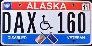 ALASKA-034-DISABLED-VETERAN-DAX-160-034-AK-Military-Specialty-License-Plate