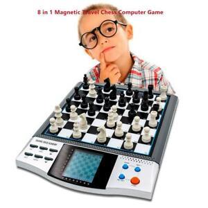 Conjuntos-de-juego-de-tablero-de-ajedrez-de-iman-viajes-de-electronica-voz-Damas-Master
